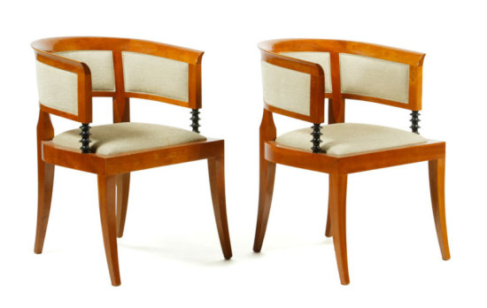 Set of 4 Georgetti Arm Chairs