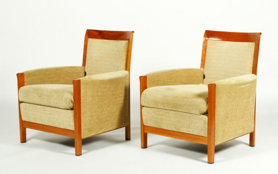 Set of 4 Upholstered Georgetti Arm Chairs