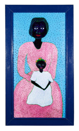 """Baron, """"Mother and Child,"""" Painting"""
