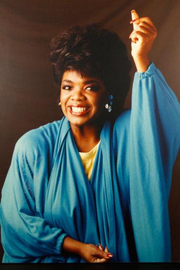 Enlarged Portrait of Oprah Winfrey
