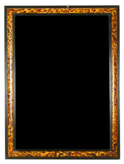 Faux Tortise Shell Grain Painted Beveled Mirror