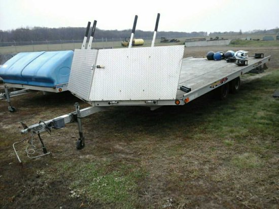 '08 Newmans Sledbed TA 4 Place Snowmobile Trailer