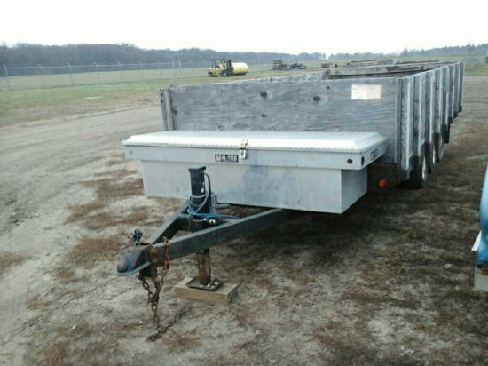 '01 Shop Built Tri Axle Utility Trailer