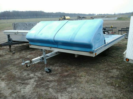 '92 Floe Trailer Pro 2 Place Snowmobile Trailer