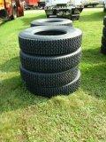 (8) Recap Tires 11R22.5,