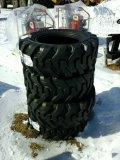 (4) 12x16.5 Skid Steer Tires