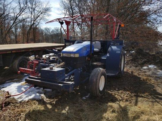 New Holland TN65 Sod Cutter & Tractor