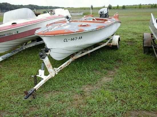 '55 Larson Batwing Boat & Trailer