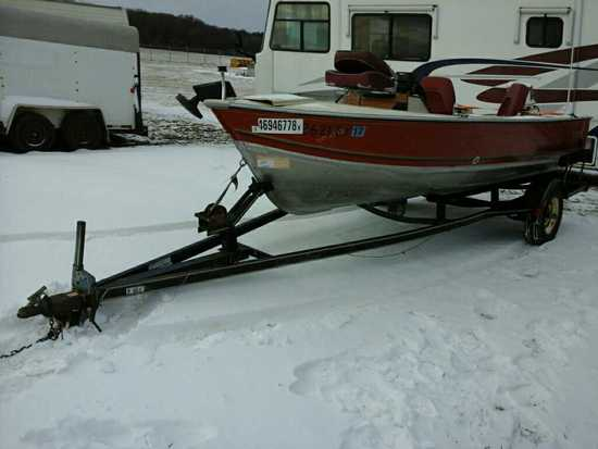 '85 Lund Fishing Boat & Trailer