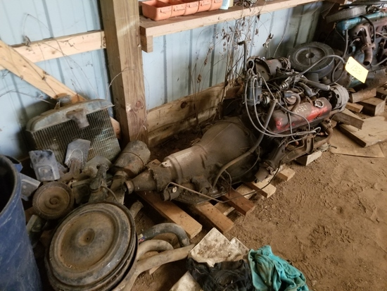 Chevy 327 Engine, Transmission, and Misc Parts