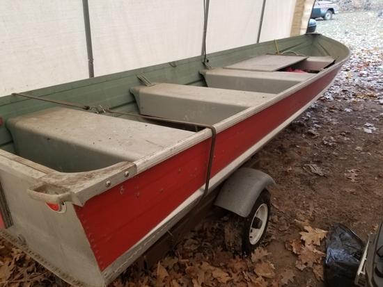 Mont 14' Boat & Trailer