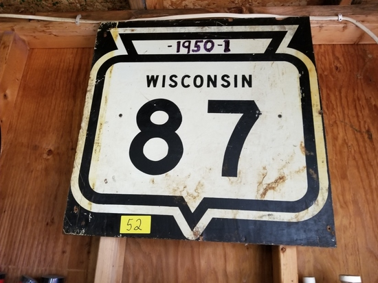 Wisconsin State 87 sign
