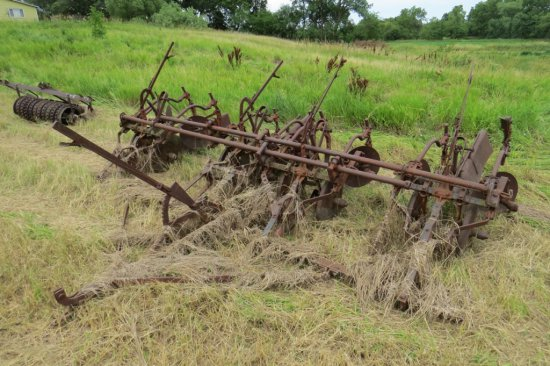 IHC Pull-Type 4-Row Cultivator on Steel.