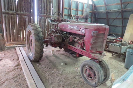 Farmall M Gas Tractor, SN# FBK-209277, Narrow Front, 6-Volt Electric Start, PTO, Single Hydraulics,