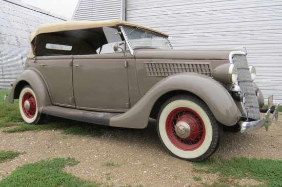 1935 Ford Phaeton 4-Door Convertible, Interior in Original Condition, Ford Flathead V8 Gas Engine, 3