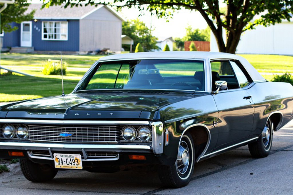 1969 Chevrolet Impala 2-Door Coupe, 327 V-8 Gas Engine, Automatic, 42,000 Original Miles, All Origin