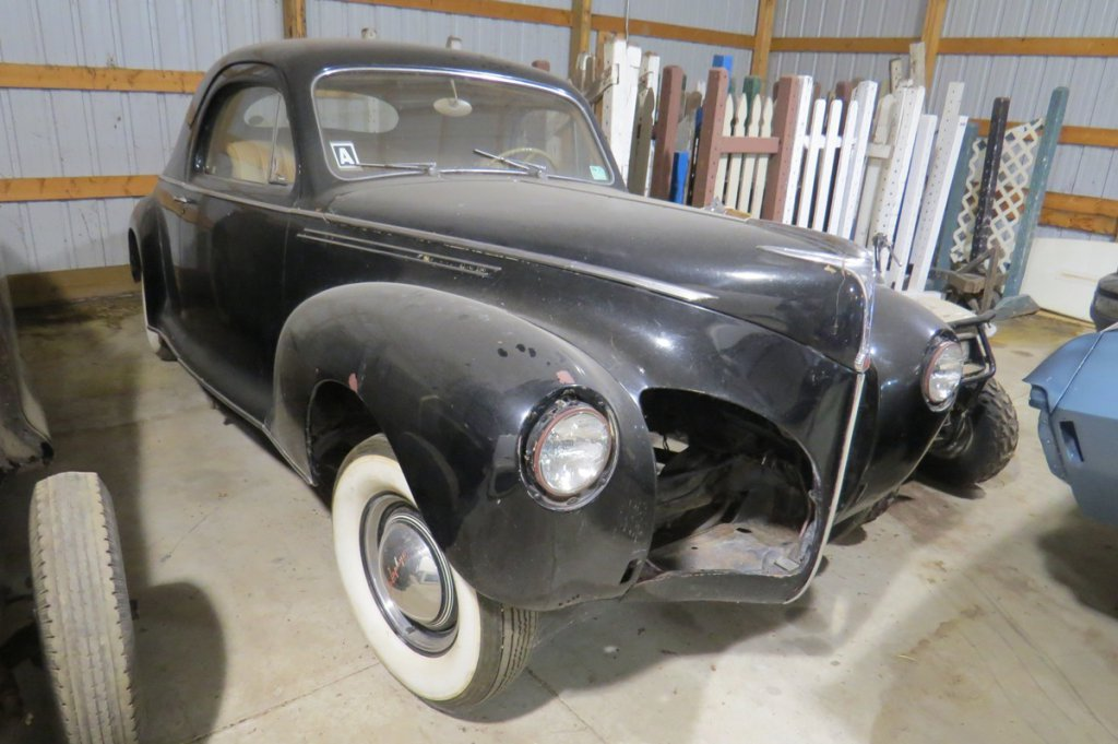 1940 Lincoln Zephyr 2-Door Coupe, Original Unrestored Condition, Engine Block Included-See Photos