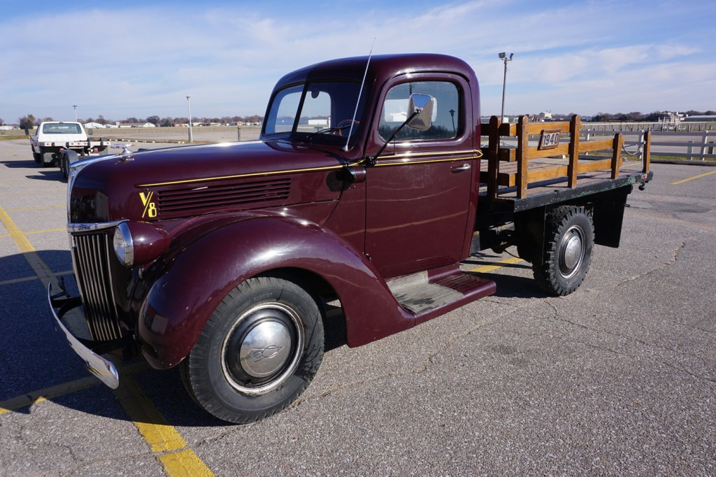 1940 Ford 3/4 Ton Flatbed Truck, V-8 Flathead Engine, Manual Transmission, 43,684 Miles on Tach,