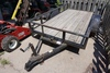 "Tophat 5'x10' Single Axle Tilt Deck Trailer, Wood Deck, 16"" Steel Sides."