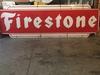 Porcelain Firestone Sign - 3' x 9', Single Sided.