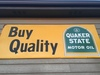 Quaker State Metal Sign - 3' x 8', Single Sided.