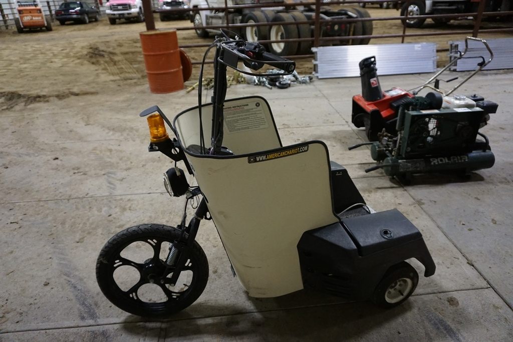 American Chariot 3 Wheel Electric Scooter Dual Batteries