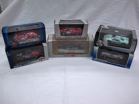 (6) Various Brands 1:43 Scale Models in Boxes, Porsche, Maserati, Ferrari,