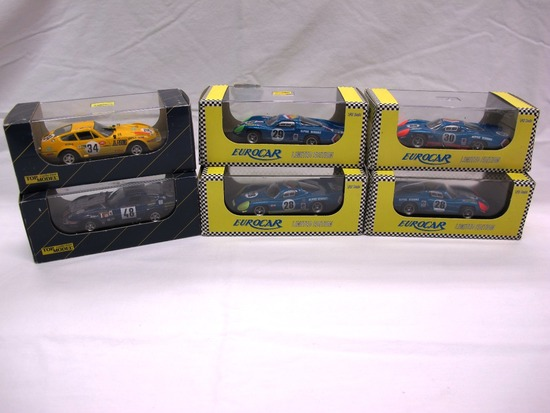 (6) Top Model Collection 1:43 Scale Models in Boxes, Ferrari & Alpine, Made