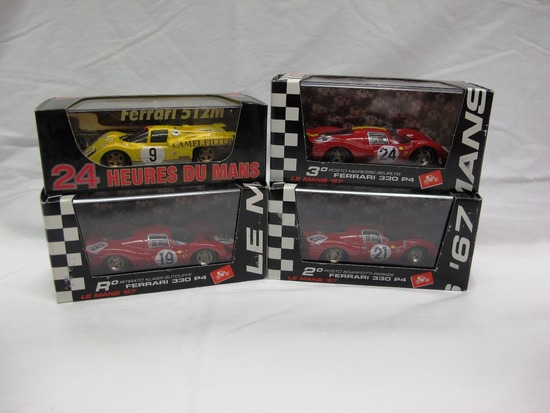 (4) Brumm 1:43 Scale Models in Boxes, All Ferrari, Made in Italy.