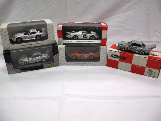(5) Various Brands 1:43 Scale Models in Boxes, Ferrari, Viper, Porsche, BMW