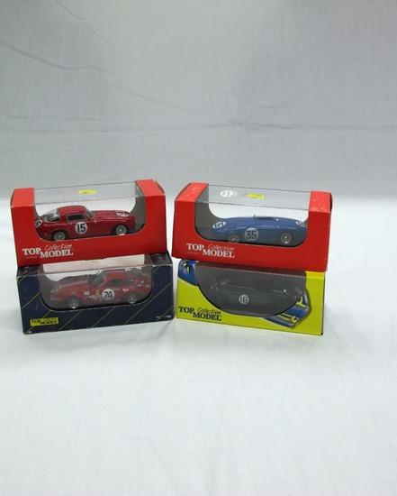 (4)Top Model Collection 1:43 Scale Models in Boxes, Ferrari 340 MM, Ferrari