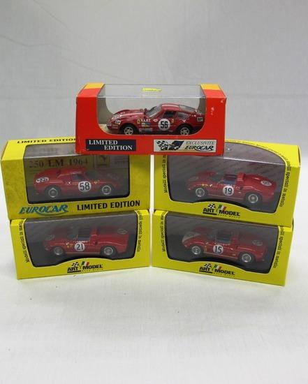 (4) EuroCar Limited 1:43 Scale Models in Boxes, Ferrari 250, Ferrari 330P,