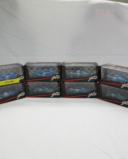 (8) GTS 1:43 Scale Models in Boxes, Matra MS630, Rene Bonnet & CD Peugeot,