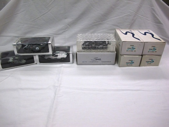 (8) Spark 1:43 Scale Model in Boxes, Lola, Lotus, Cadillac, Mirage, Made in