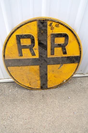 Original RR Crossings Metal Sign.