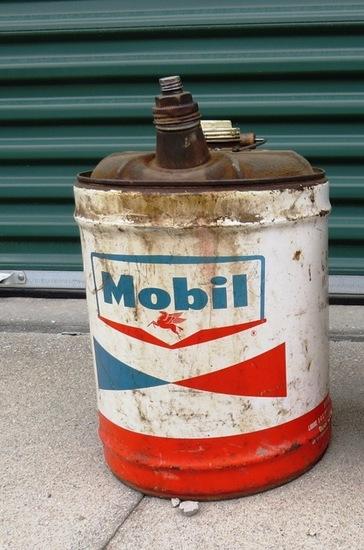 (1) Original Mobil Gasoline 5-Gallon Metal Can.