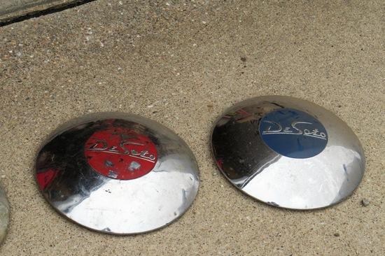 (3) Original DeSoto Hub Caps.