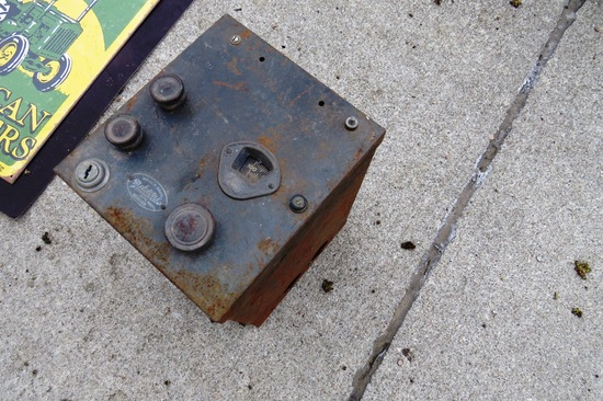 "Original Welch Bros ""Melotone"" Autophonic Auto Radio & Original Model A Carburetor & Rebuilt Carbure"