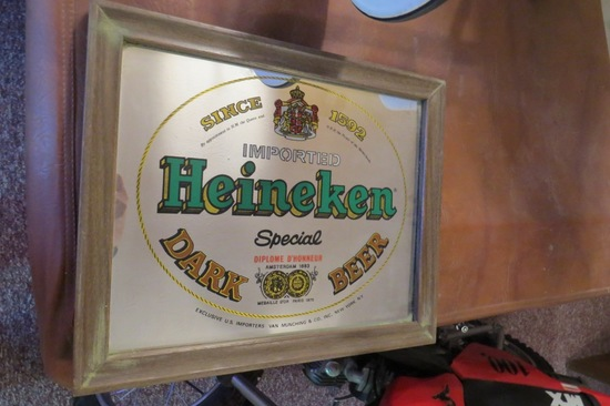 Heineken Special Dark Beer Mirror.