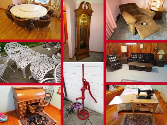 Clean Online Only Furniture Auction