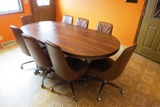 Dining Room Table & Hutch Set with Large Laminate Top Dining Room Table wit