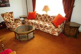 5-Piece Living Room Set, Octagon Coffee Table, 8' Davenport Couch, Matching
