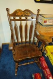Solid Wood Rocking Chair.