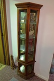 Small Lighted Curio Cabinet with (3) Glass Shelves (25