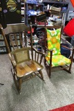 (2) Wood Rocking Chairs.