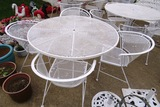 Expanded Metal Table & (4) Chairs Set.