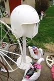 Resin Football Helmet Mailbox.