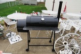 Black Smoker Grill-Charcoal Type, Ashcroft External Temperature Gauge.