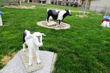 (2) Dairy Cattle Concrete Statues.