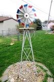 7' Tall Metal Windmill.